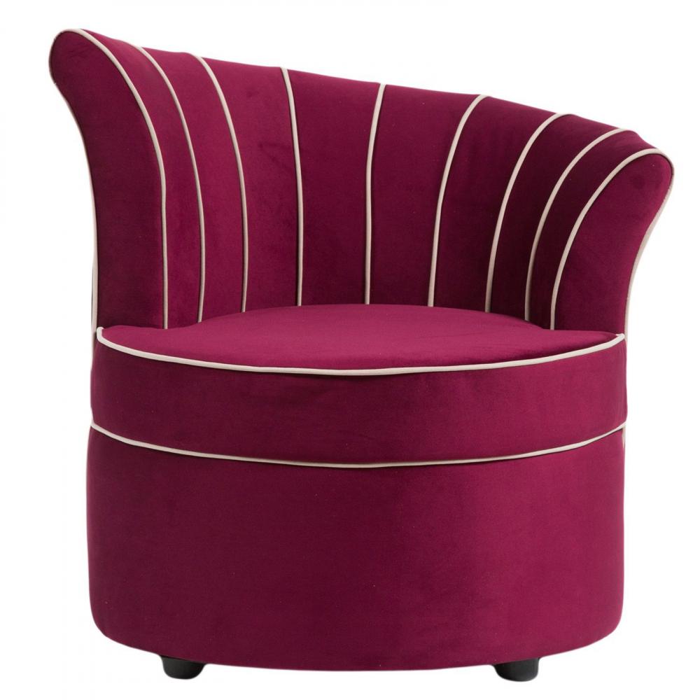 Фото Кресло Shell Фиолетовое Велюр. Купить с доставкой