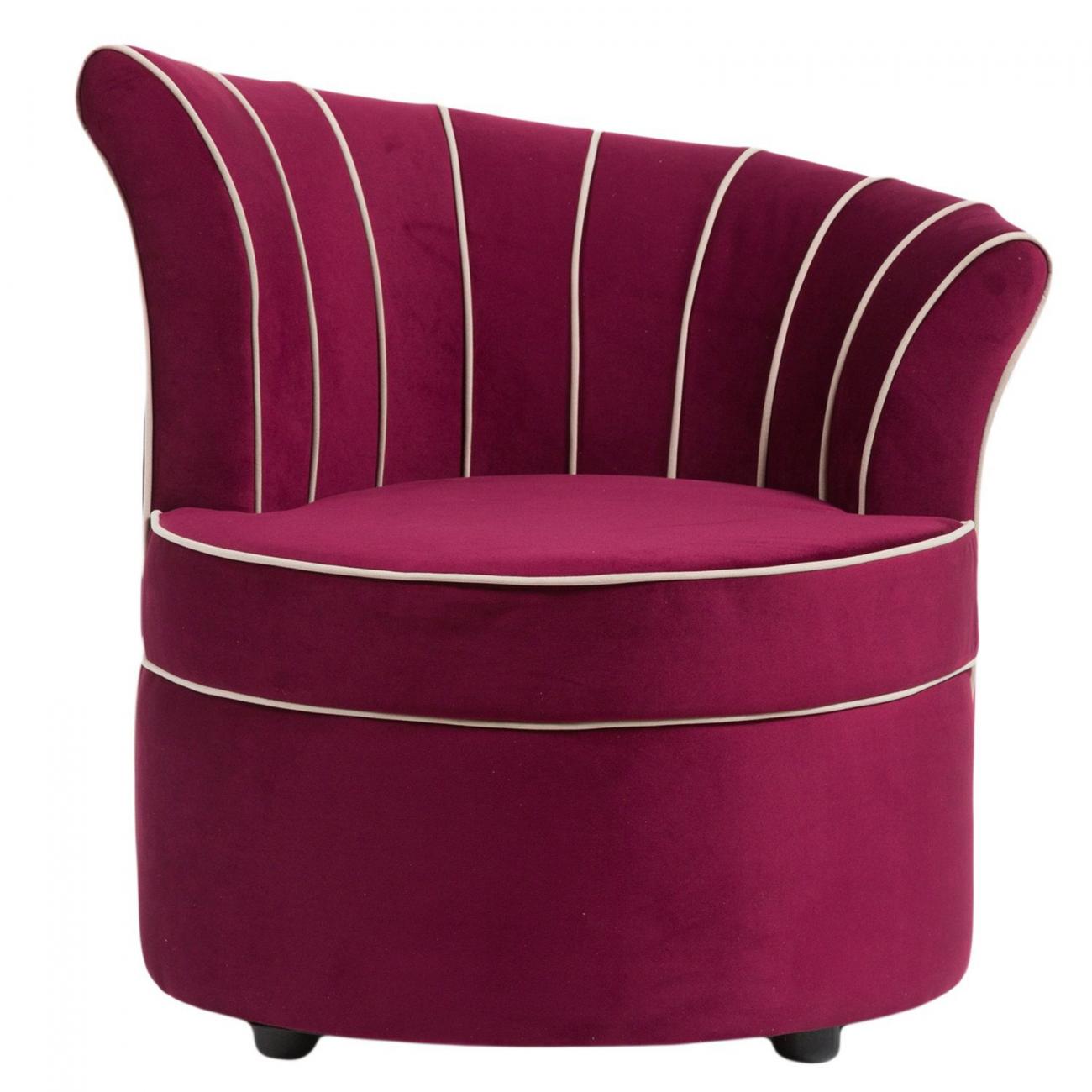Купить Кресло Shell Фиолетовое Велюр в интернет магазине дизайнерской мебели и аксессуаров для дома и дачи