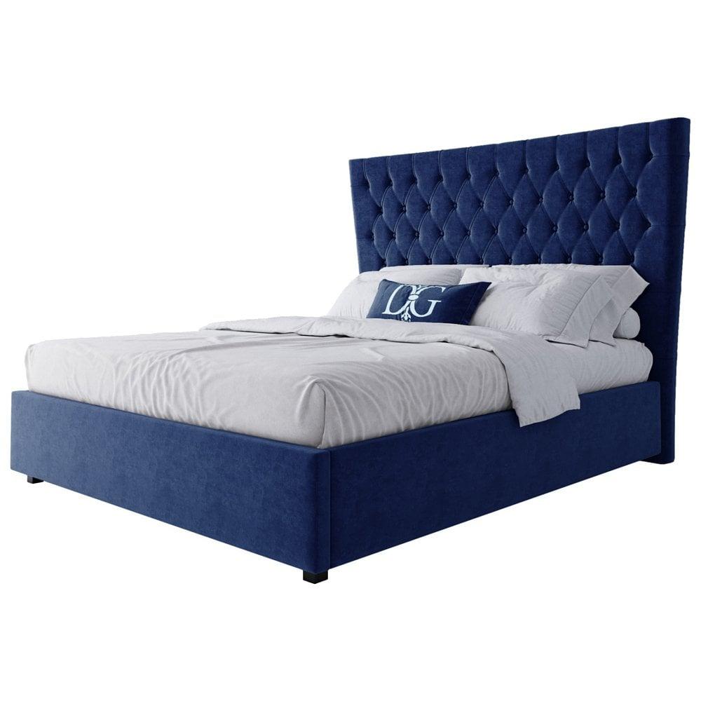 Кровать QuickSand 160х200 Велюр Синий