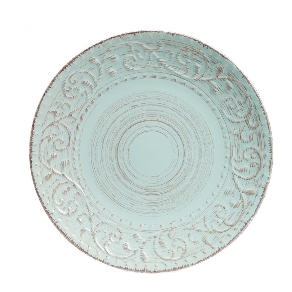 Тарелка La Cebra Большая ГолубаяТарелки<br><br><br>Цвет: Бирюзовый<br>Материал: Керамика<br>Вес кг: 0,95<br>Длина см: 28<br>Ширина см: 28<br>Высота см: 3