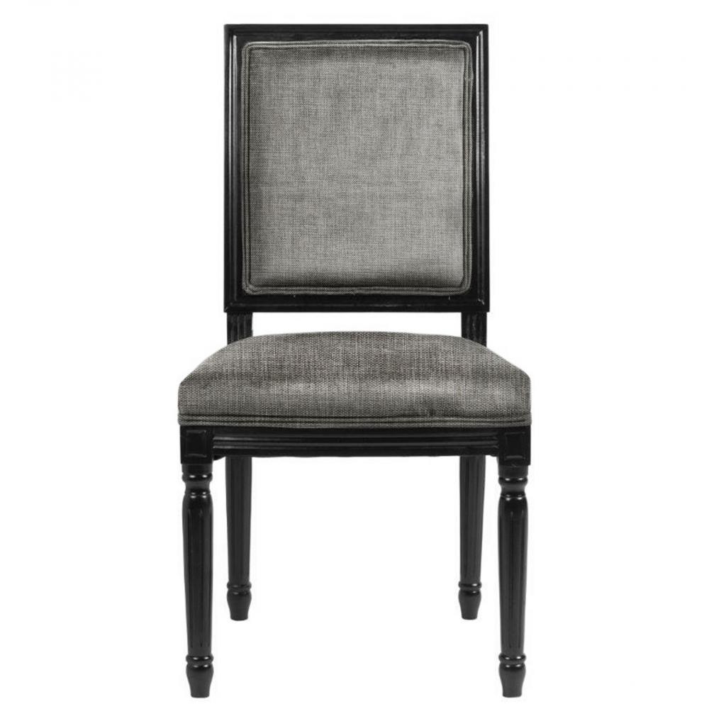Стул Overture Лён Серый DG-HOME Эксклюзивный стул, который отлично будет  смотреться как за обеденным, так и за письменным  столом. Он имеет мягкую спинку и сиденье,  а каркас и ножки этой модели сделаны из  дерева черного цвета. Спинка и сидение обиты  благородным вельветом графитово-серого  цвета. Стул имеет оригинальные ножки, украшенные  резьбой.