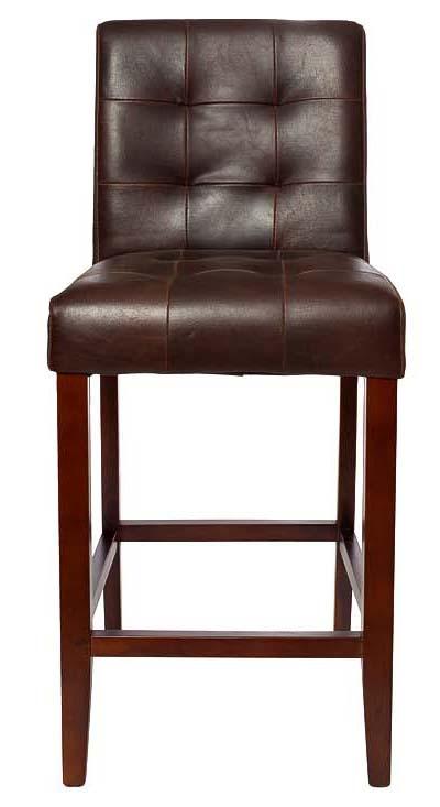Купить Стул барный Sol Коричневая Кожа в интернет магазине дизайнерской мебели и аксессуаров для дома и дачи
