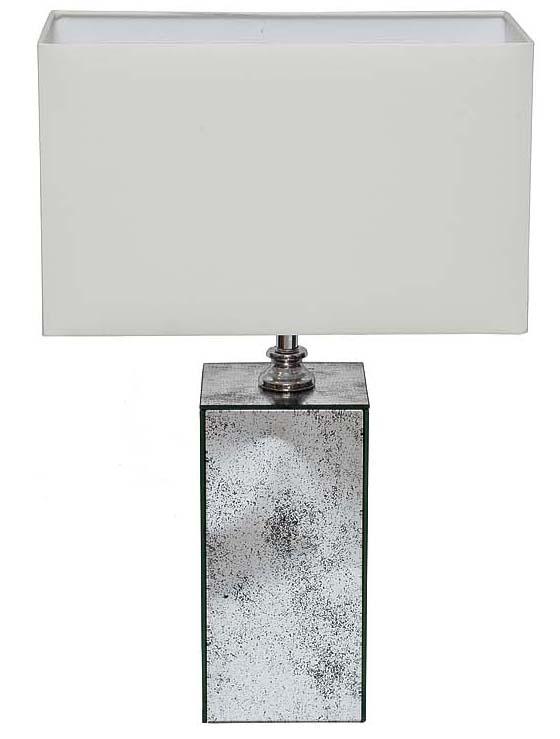 Купить Лампа настольная Emory с зеркальными вставками в интернет магазине дизайнерской мебели и аксессуаров для дома и дачи