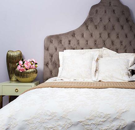 Купить Покрывало BIANCA на двуспальную кровать Бежевое в интернет магазине дизайнерской мебели и аксессуаров для дома и дачи