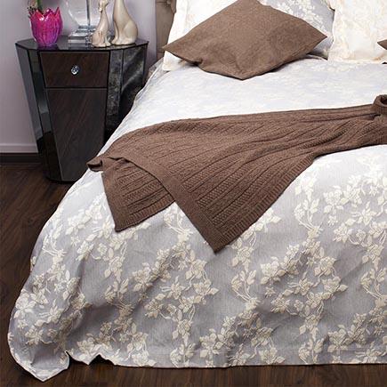 Купить Покрывало BIANCA на двуспальную кровать Серое в интернет магазине дизайнерской мебели и аксессуаров для дома и дачи