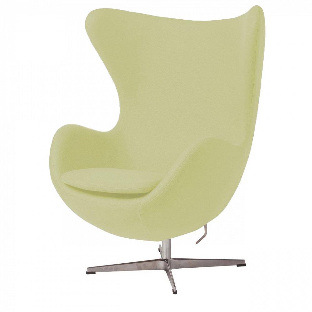 Фото Кресло Egg Chair Жёлтое 100% Шерсть. Купить с доставкой