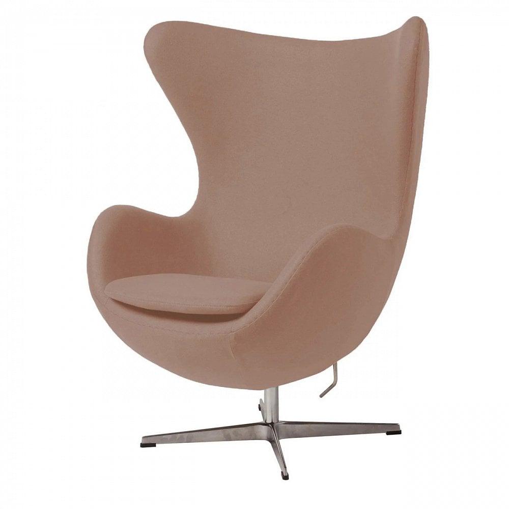 Фото Кресло Egg Chair Светло-розовое 100% Шерсть. Купить с доставкой