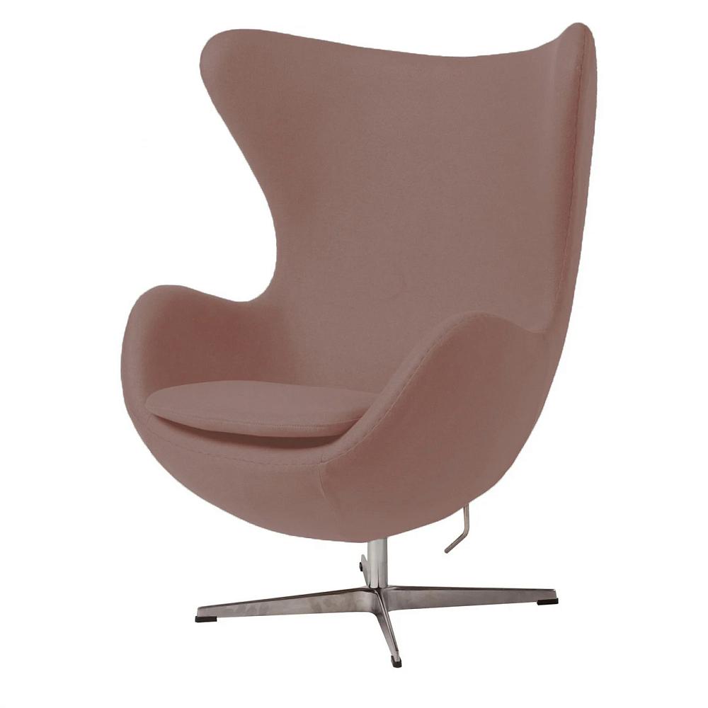 Кресло Egg Chair Розовое 100% ШерстьКресла<br><br><br>Цвет: Розовый<br>Материал: Шерсть, Металл<br>Вес кг: 37<br>Длина см: 82<br>Ширина см: 76<br>Высота см: 105