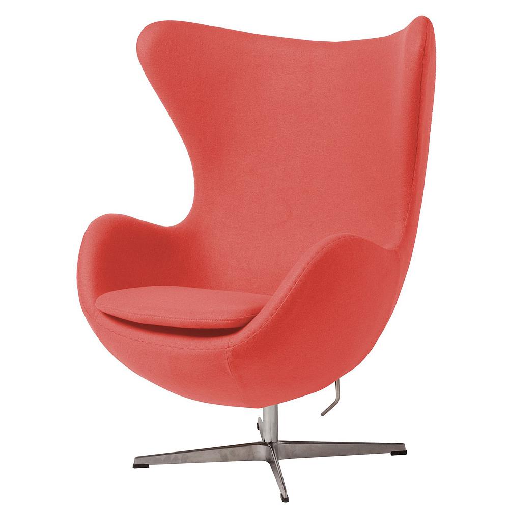 Кресло Egg Chair Коралловое 100% ШерстьКресла<br><br><br>Цвет: Коралловый<br>Материал: Шерсть, Металл<br>Вес кг: 37<br>Длина см: 82<br>Ширина см: 76<br>Высота см: 105