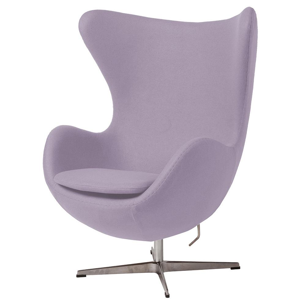 Кресло Egg Chair Сиреневое 100% ШерстьКресла<br><br><br>Цвет: Сиреневый<br>Материал: Шерсть, Металл<br>Вес кг: 37<br>Длина см: 82<br>Ширина см: 76<br>Высота см: 105