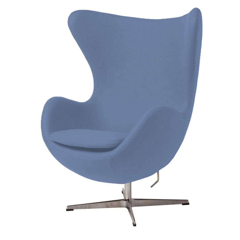Фото Кресло Egg Chair Голубое 100% Шерсть. Купить с доставкой