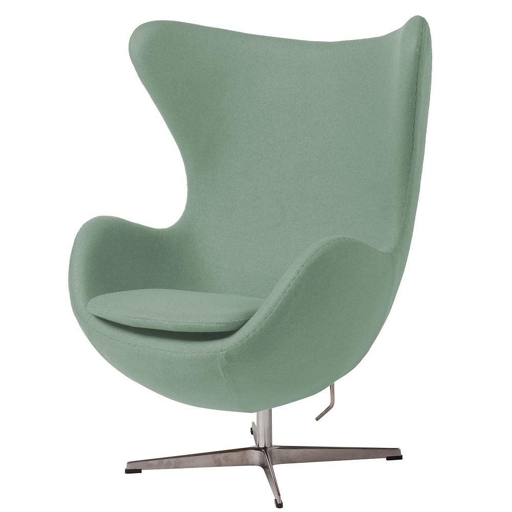 Фото Кресло Egg Chair цвета Тиффани 100% Шерсть. Купить с доставкой