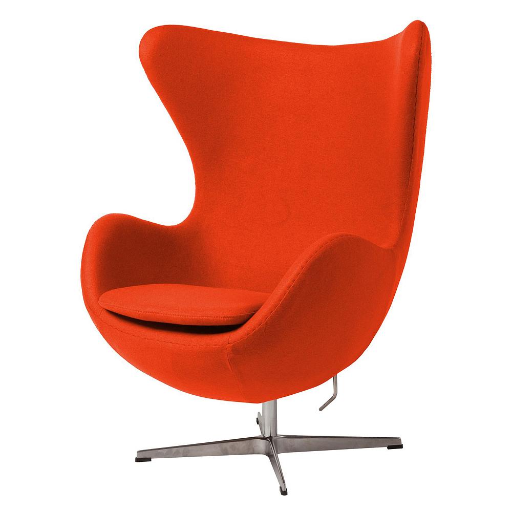 Фото Кресло Egg Chair Морковное 100% Шерсть. Купить с доставкой