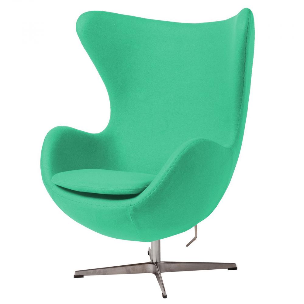 Кресло Egg Chair Зелёное 100% ШерстьКресла<br><br><br>Цвет: Зелёный<br>Материал: Шерсть, Металл<br>Вес кг: 37<br>Длина см: 82<br>Ширина см: 76<br>Высота см: 105
