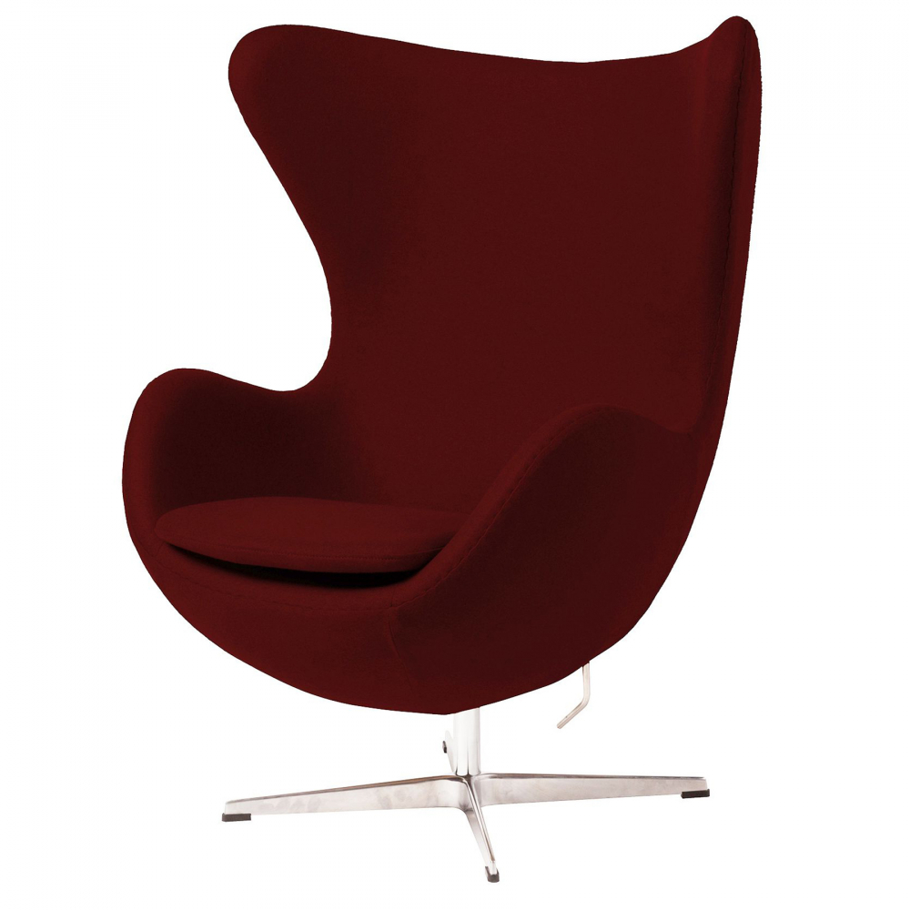 Фото Кресло Egg Chair Бордовое с вкраплениями 100%  Шерсть. Купить с доставкой