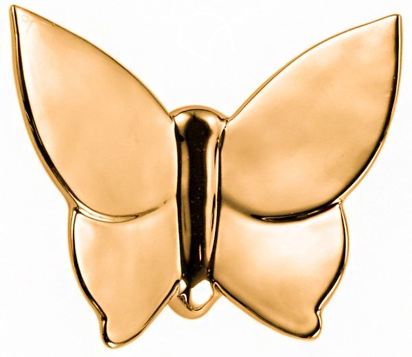 Декоративная бабочка Butterfly (золотая) 10*12