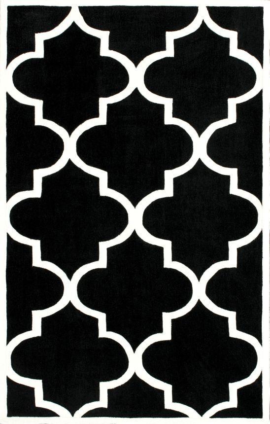 Ковёр Трельяж Чёрный 1,2-1,8 DG-HOME