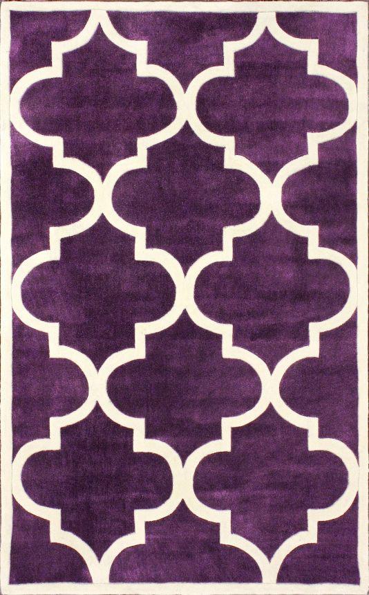 Ковёр Трельяж Фиолетовый 1,6-2,3Ковры<br><br><br>Цвет: Фиолетовый, Белый<br>Материал: Шерсть, Хлопок<br>Вес кг: 3<br>Длина см: 160<br>Ширина см: 1,5<br>Высота см: 230