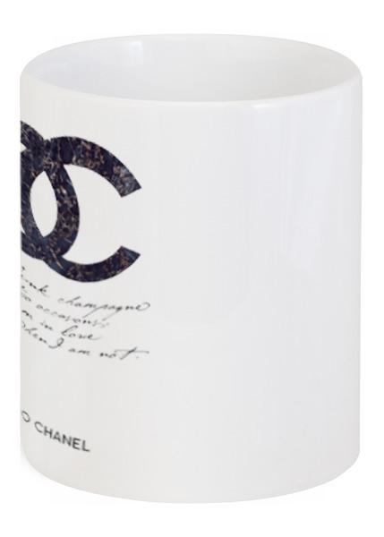 Кружка с рисунком Drink champagne. Coco Chanel