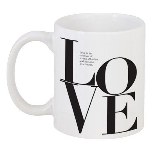 Кружка с рисунком Love is LoveКружки<br>Объем кружки: 330 мл.<br><br>Цвет: Белый<br>Материал: Керамика<br>Вес кг: 0,38<br>Длина см: 13,1<br>Ширина см: 8,1<br>Высота см: 9,5