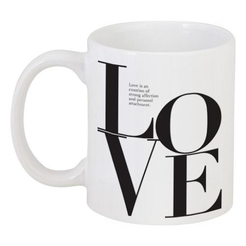 Кружка с рисунком Love is LoveКружки<br><br><br>Цвет: Белый<br>Материал: Керамика<br>Вес кг: 0,38<br>Длина см: 13,1<br>Ширина см: 8,1<br>Высота см: 9,5