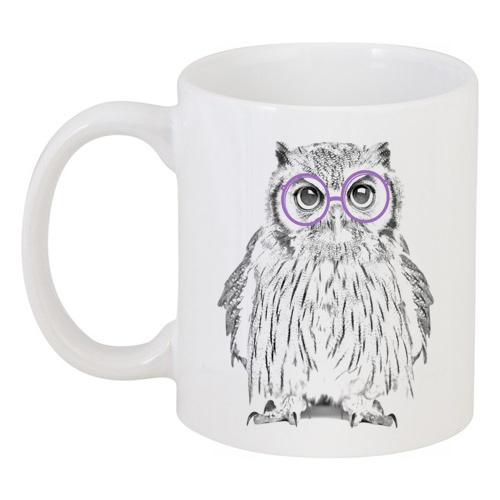 Фото Кружка с рисунком Сова в очках. Купить с доставкой