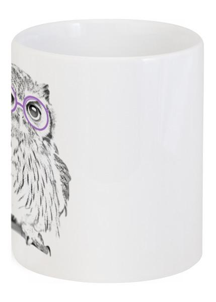 Кружка с рисунком Сова в очках