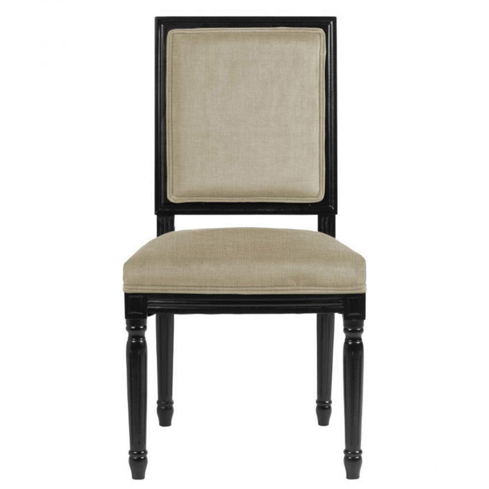 Стул Overture Лён Молочный DG-HOME Стул Overture — это классический пример стиля  «прованс» в современной интерпретации  мебельной классики — форма традиционная,  а расцветка оригинальная. Каркас стула  полностью деревянный, сделан из благородных  пород и обит льном. Смотрится такая деталь  интерьера изысканно, гармонично дополнит  обстановку жилого помещения. Деревянное  основание — чёрного цвета, а лён, которым  обит стул — на ваш выбор. Наполнитель каркаса  стула — поролон, размеры сидения традиционные.  Оформление изделия точно соответствует  стилю «прованс», отличаясь лишь цветом  обивки — купите и убедитесь сами!