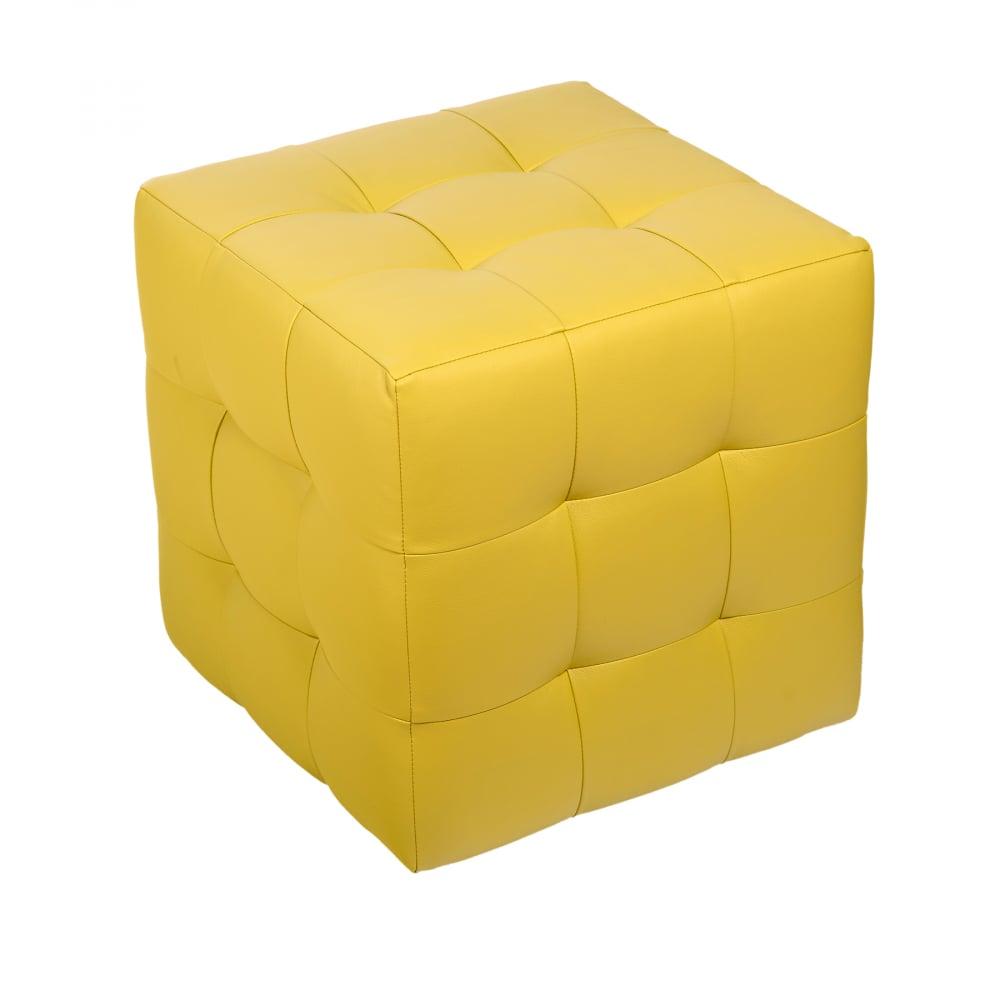 Пуф Руби ЖелтыйПуфы и оттоманки<br><br><br>Цвет: Жёлтый<br>Материал: Экокожа<br>Вес кг: None<br>Длина см: 41<br>Ширина см: 41<br>Высота см: 43