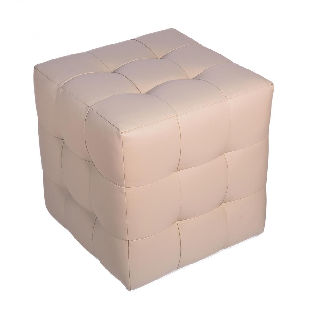 Пуф Руби МолочныйПуфы и оттоманки<br><br><br>Цвет: Молочный<br>Материал: Экокожа<br>Вес кг: None<br>Длина см: 41<br>Ширина см: 41<br>Высота см: 43