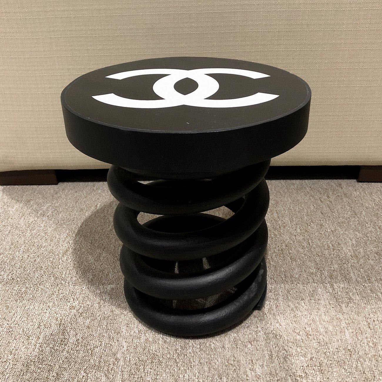 Купить Стул Пружина Chanel black малый в интернет магазине дизайнерской мебели и аксессуаров для дома и дачи