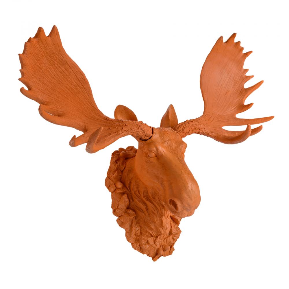 Декоративная голова лося КраснаяДекоративные головы<br><br><br>Цвет: Красный<br>Материал: Полирезин<br>Вес кг: 2,5<br>Длина см: 45<br>Ширина см: 54<br>Высота см: 27
