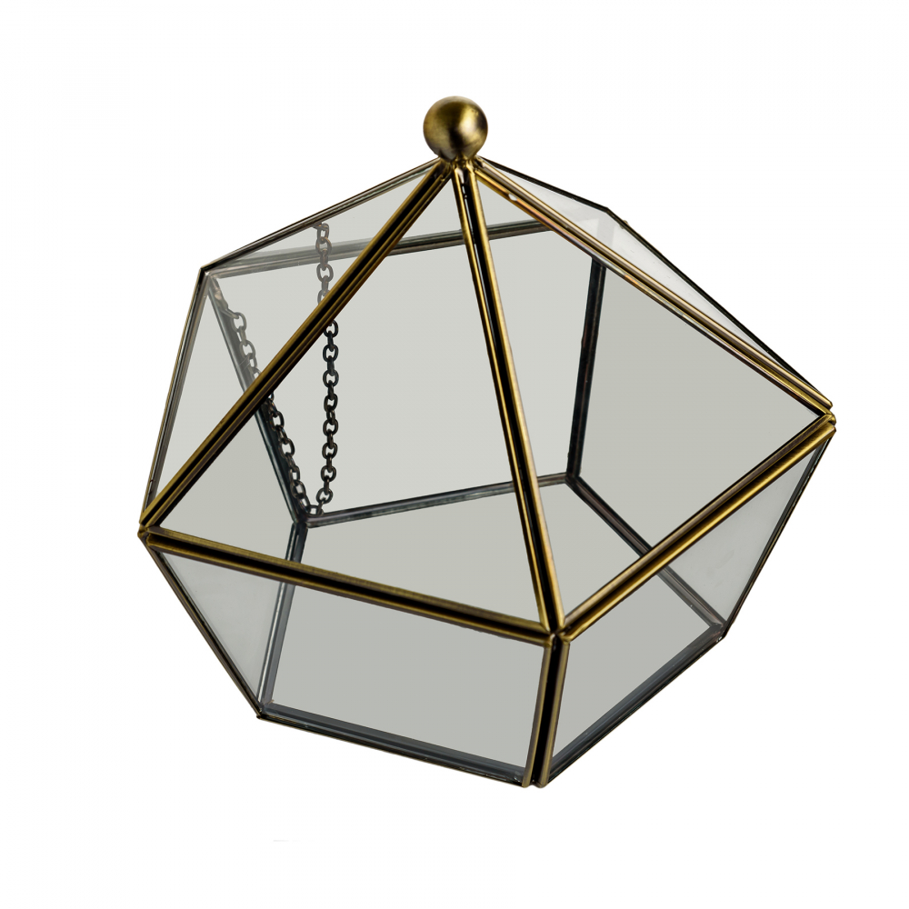 Флорариум стеклянный в винтажном стиле Diamond Shape