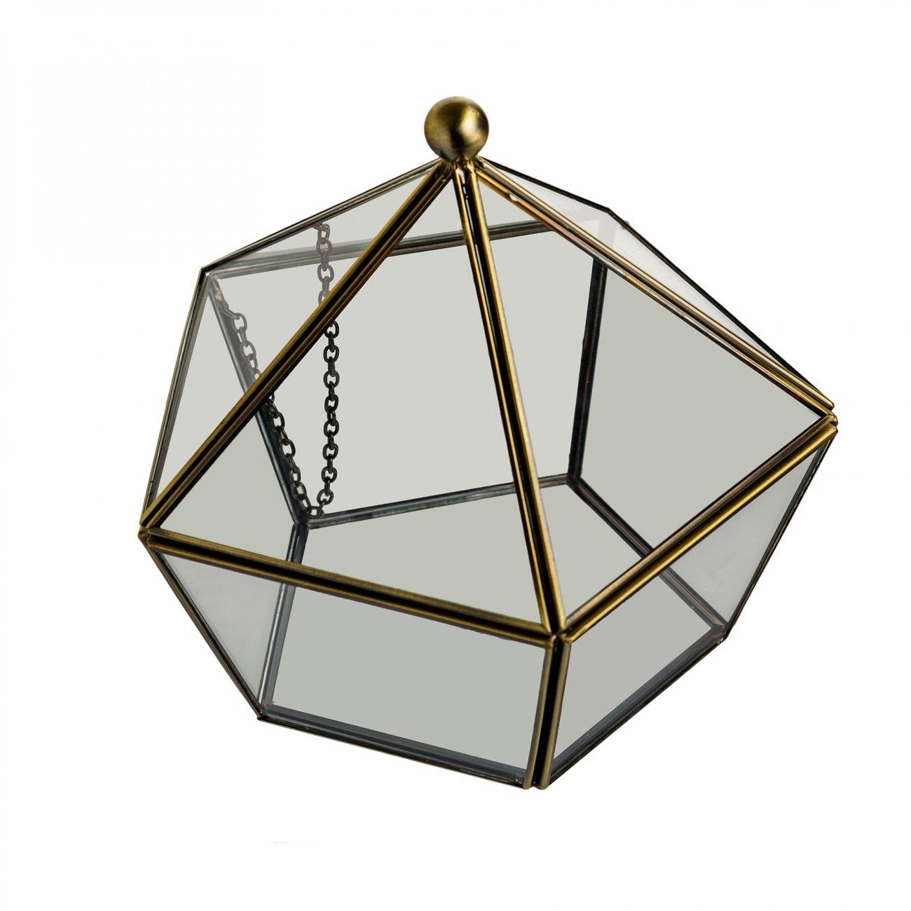 Купить Флорариум стеклянный в винтажном стиле Diamond Shape в интернет магазине дизайнерской мебели и аксессуаров для дома и дачи