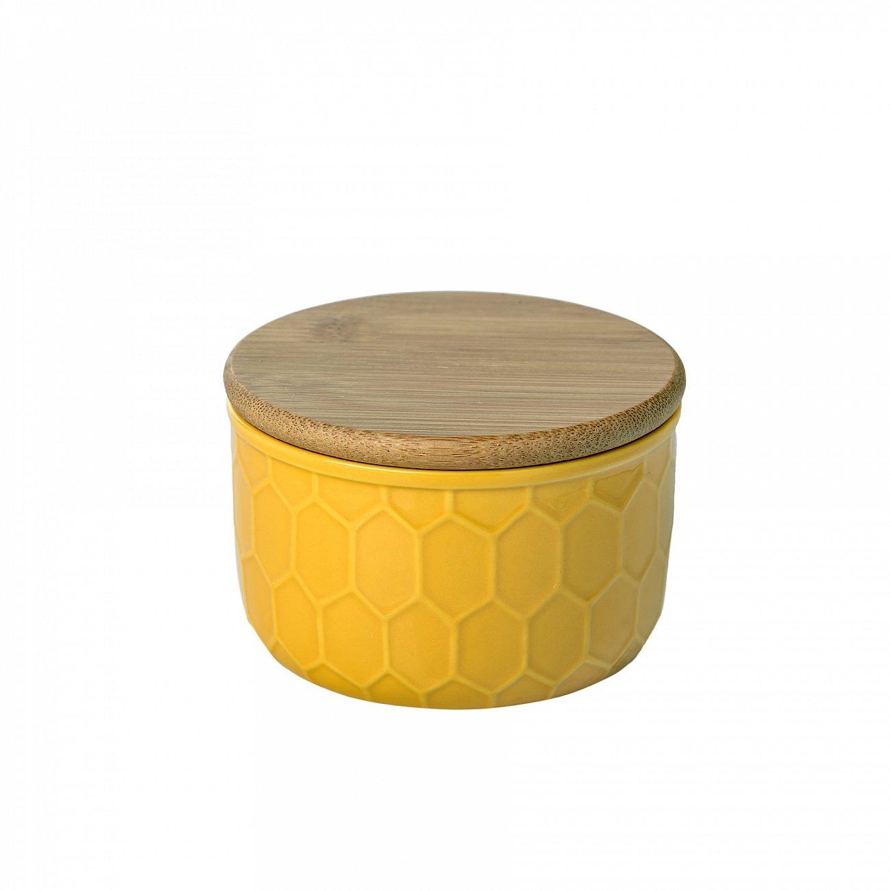 Купить Ёмкость для хранения Honeycomb Жёлтая Маленькая в интернет магазине дизайнерской мебели и аксессуаров для дома и дачи