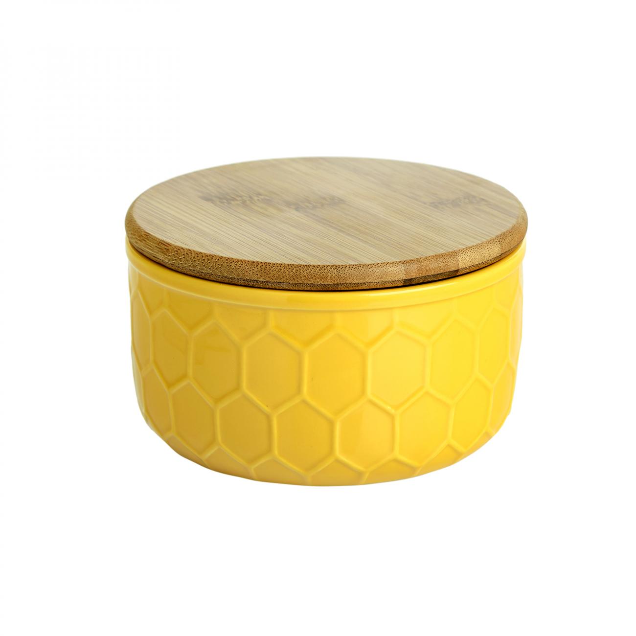 Купить Ёмкость для хранения Honeycomb Жёлтая Большая в интернет магазине дизайнерской мебели и аксессуаров для дома и дачи