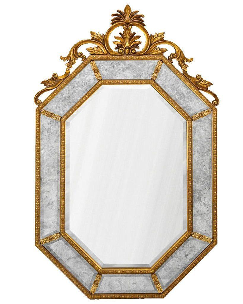 """Купить Зеркало в раме """"Лидс"""" 19C. Gold/02 в интернет магазине дизайнерской мебели и аксессуаров для дома и дачи"""