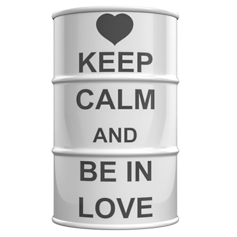 Купить Декоративная Бочка Keep calm and be in love M в интернет магазине дизайнерской мебели и аксессуаров для дома и дачи