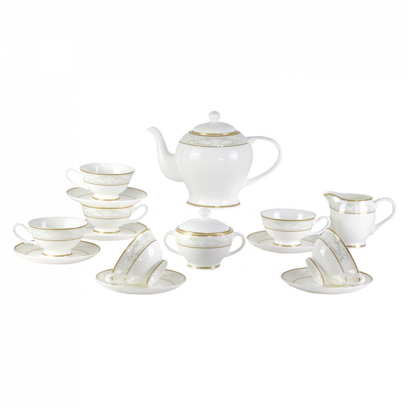 Купить Чайный сервиз Marbella 17 Pcs  tea Set в интернет магазине дизайнерской мебели и аксессуаров для дома и дачи