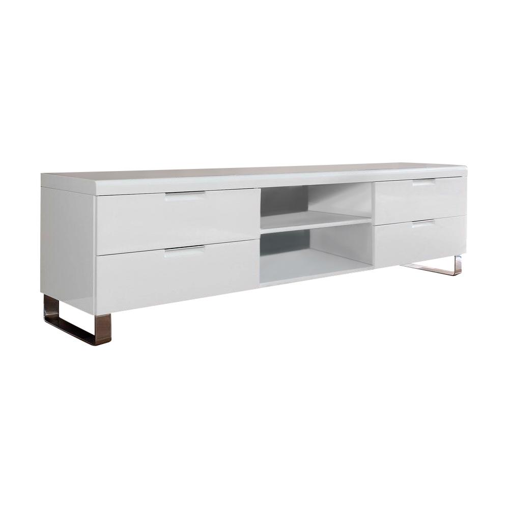Купить Тумба TV Amico Белая на ножках в интернет магазине дизайнерской мебели и аксессуаров для дома и дачи