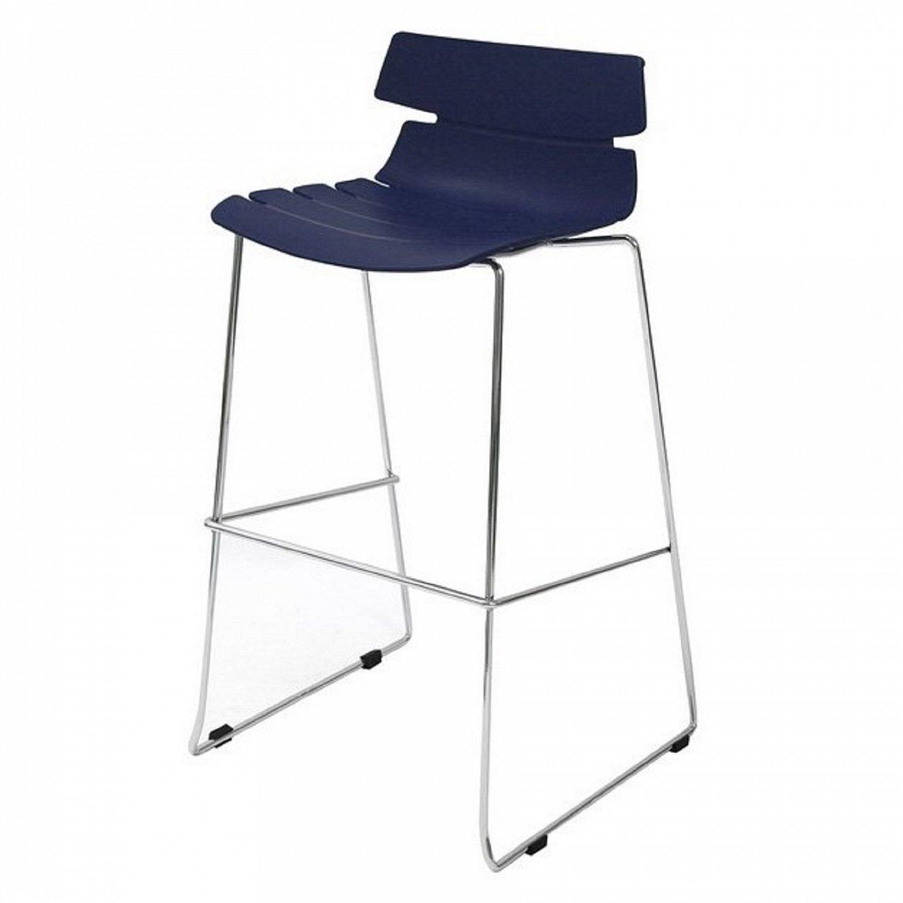 Купить Стул барный CT-602 синий в интернет магазине дизайнерской мебели и аксессуаров для дома и дачи