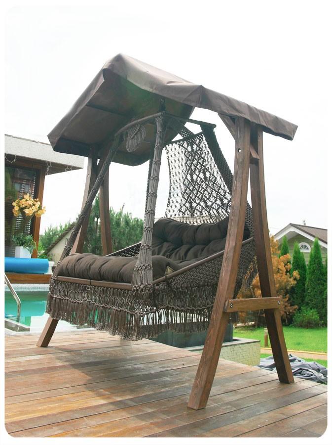 Купить Деревянный с крышей каркас КАРАВЕЛЛА (для качелей СЕАРА) в интернет магазине дизайнерской мебели и аксессуаров для дома и дачи