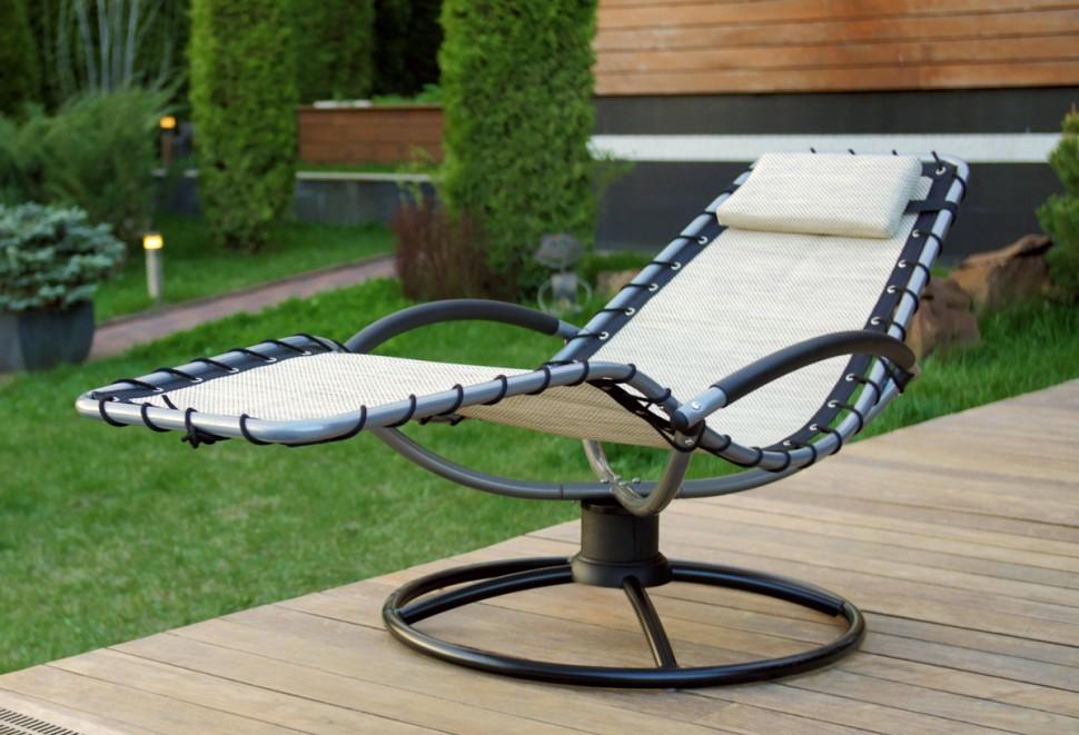 Купить Шезлонг качалка лежак ФЛЭТ цвет белый в интернет магазине дизайнерской мебели и аксессуаров для дома и дачи
