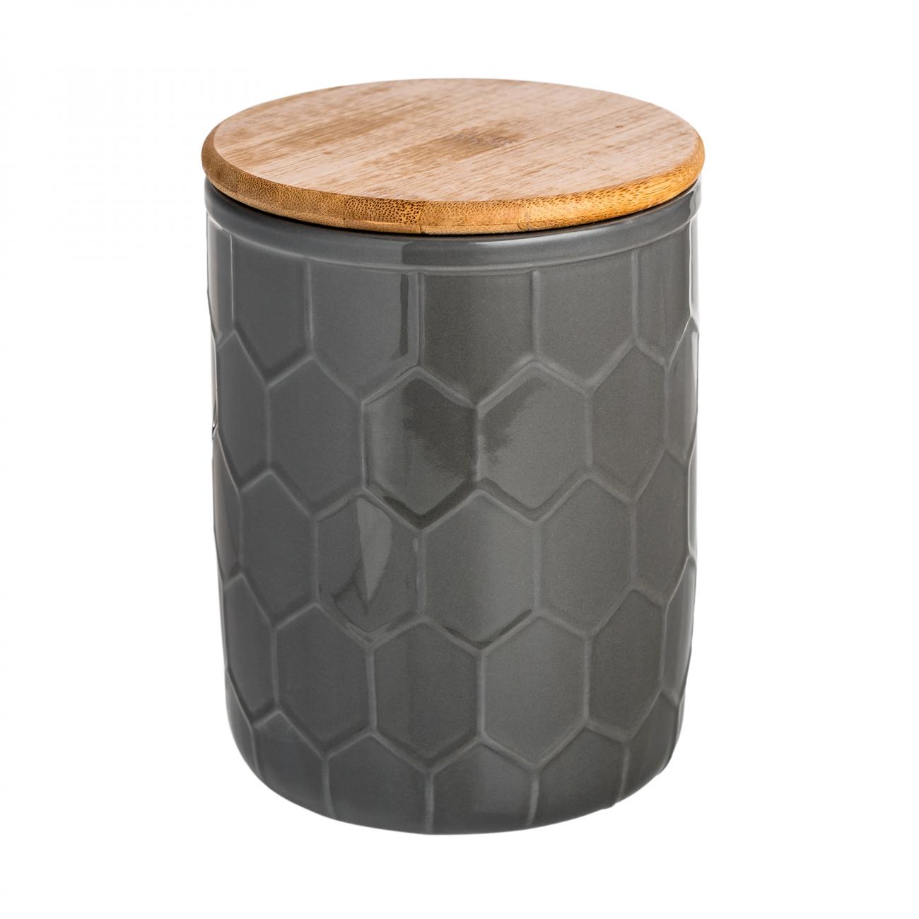 Купить Ёмкость для хранения Honeycomb Чёрная Средняя в интернет магазине дизайнерской мебели и аксессуаров для дома и дачи