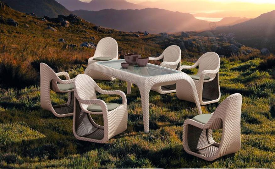Купить Комплект мебели из ротанга Патио Fox Обеденная группа в интернет магазине дизайнерской мебели и аксессуаров для дома и дачи