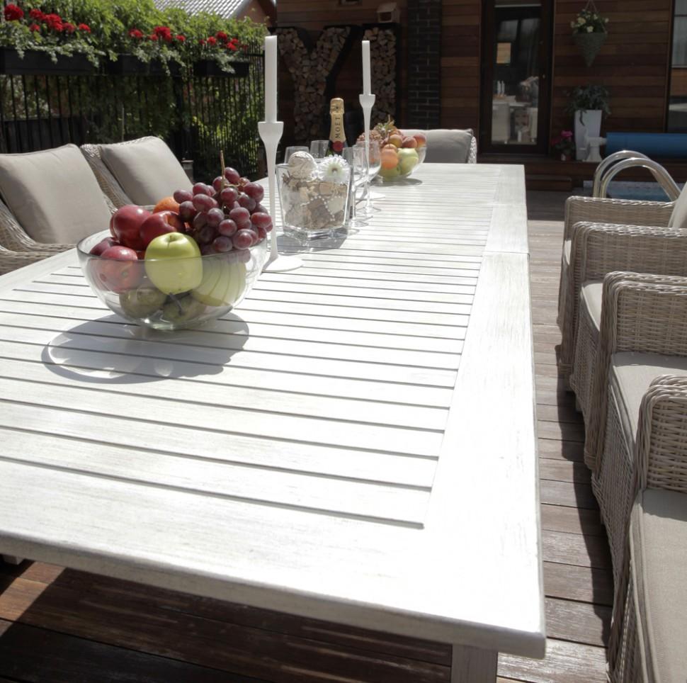 Купить Обеденный стол ТОСКАНА из алюминия в интернет магазине дизайнерской мебели и аксессуаров для дома и дачи
