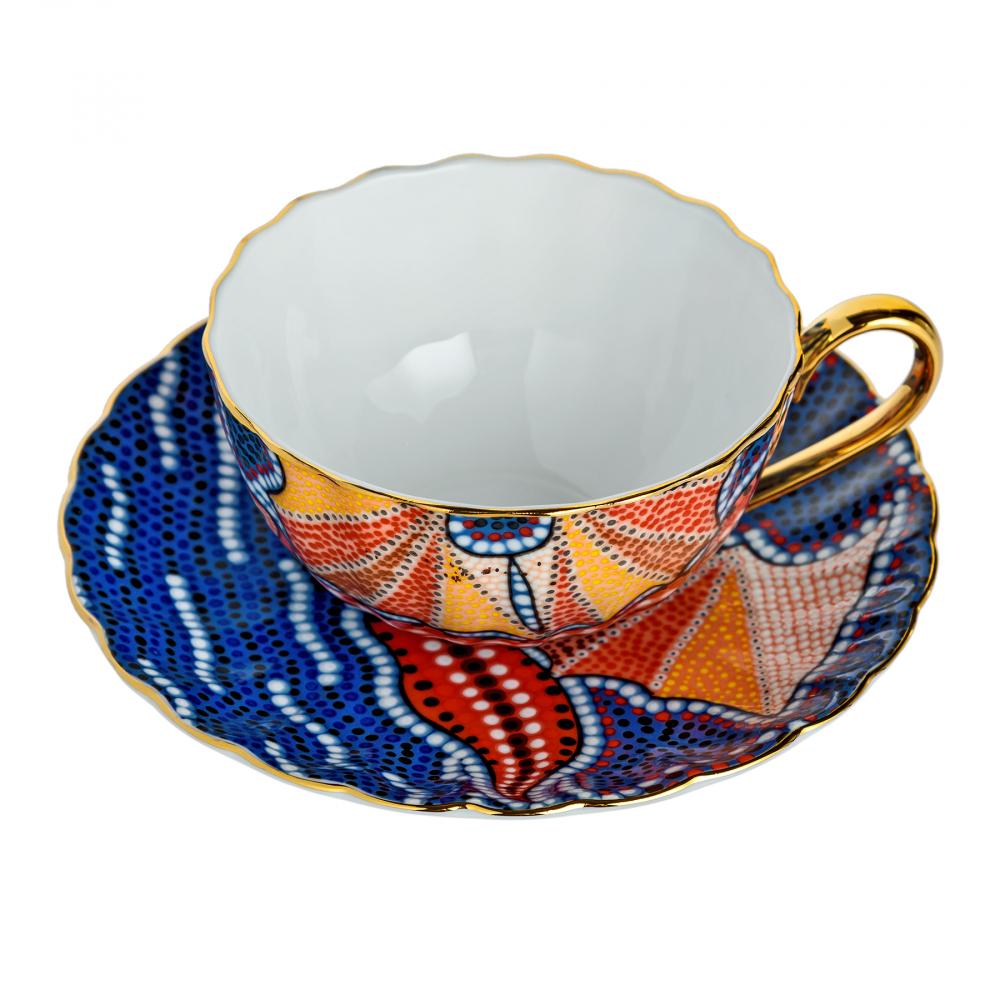 Чайная пара Мозаика Фиолетовая
