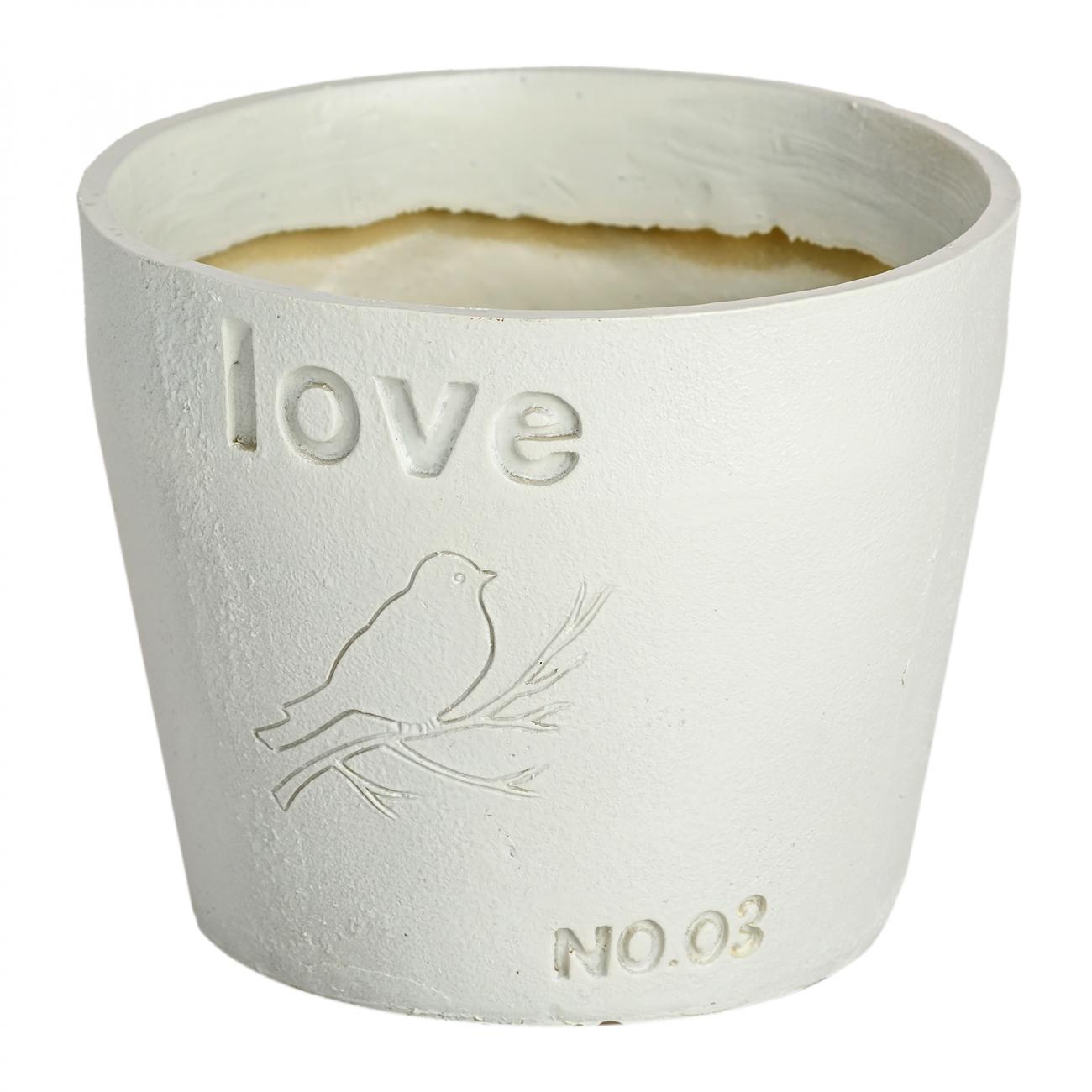 Купить Цветочный горшок Love Белый в интернет магазине дизайнерской мебели и аксессуаров для дома и дачи