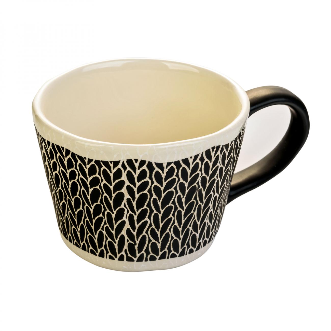 Купить Чашка ручной росписи Flowers в интернет магазине дизайнерской мебели и аксессуаров для дома и дачи