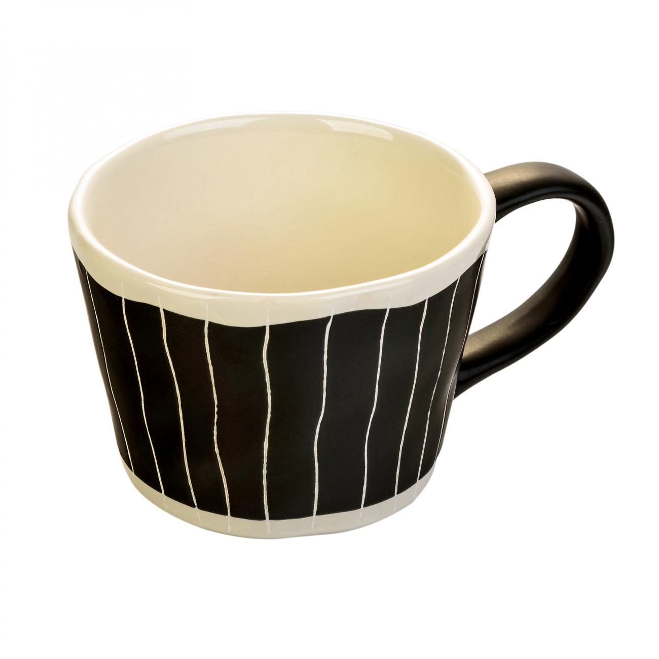 Купить Чашка ручной росписи Stripes в интернет магазине дизайнерской мебели и аксессуаров для дома и дачи